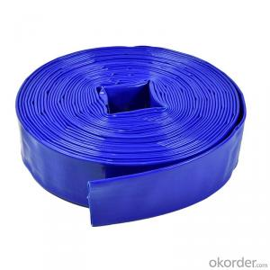 PVC flexible dischargable agricultural irrigation Layflat water tube hose