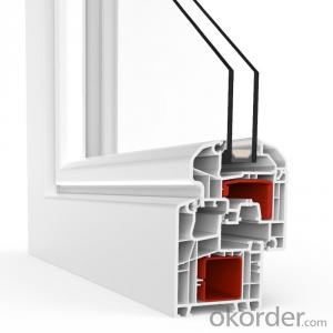 uPVC German Window Profile for L60AD Fix and Tilt and Turn Window
