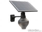 Best price IP65 Solar peach apple moon garden wall light with LED Power 6W/9W/12W/15W