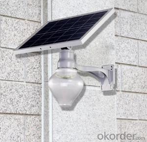 9W Wall mounted solar courtyard peach lights outdoor garden solar apple light