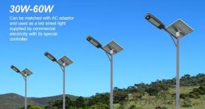 60W LED Solar Street Light Outdoor Certificated