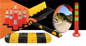 Highway Safety Reflective Black Rubber Traffic