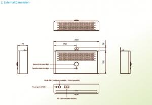 Elevator Elevator air virus sterilizer for air purifier, virus Filter, sanitizer with Ultraviolet UV