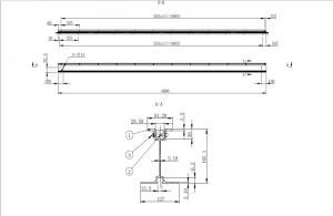 GASS Lightweight Aluminum Formwork Aluminum beam T225 H type