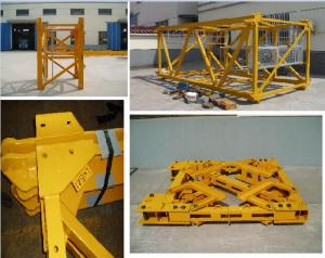 Famous Brand Tower Crane Spare Parts: Mast Section, Base Anchorage, Climbing Cage, Tie-in Frame