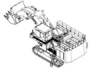 XE1250 MIning Excavator hydraulic excavator 567kw/1800rpm 115000kg CUMMINS QSK23-C760