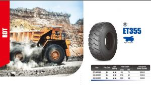 Tire for Mining truck mining loader SUPER Tire for machines SUPER ROCK, FORT RDT, SUPER RDT