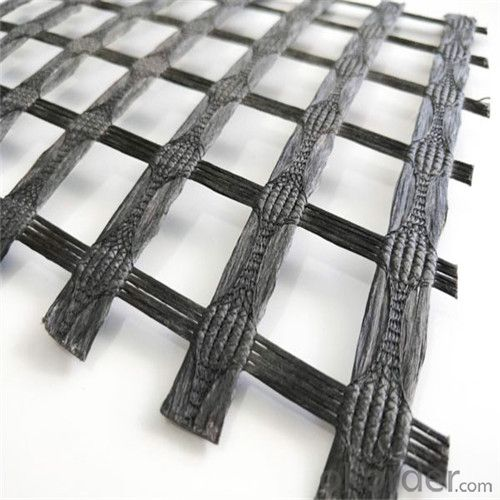 Fiberglass Geogrid with High Tensile Strength Warp Knitted