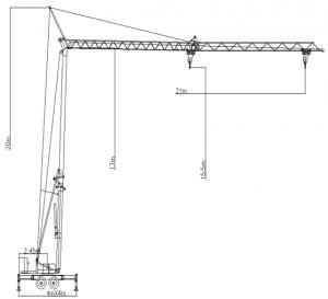 self erecting tower crane Tower Crane with CE and GOST certification