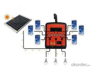 Solar Kits solar home power system for 3rooms with 6 USB Mobile Phone Charger