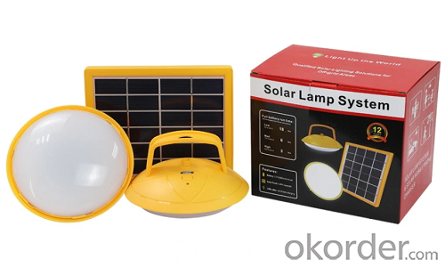Portable Solar LED Lighting Home System with Mobile Phone Charger