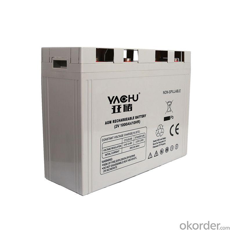 2V 1000ah lead acid battery valve regulated lead acid battery