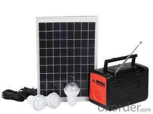 Multifunctional Solar Home Lighting Energy System Generator with LED Bulbs