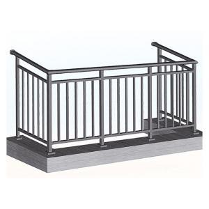 Aluminum Steel Railing Modern Designs Handrail for House or Villa Balcony Metal Balustrades