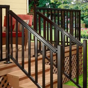 Aluminum Steel Railing Modern Designs Handrail for House or Villa Balcony Metal Balustrades
