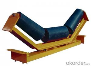 Belt conveyor different types of idlers rollers