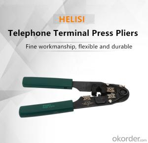 Telephone Terminal Press Pliers Terminal Pliers Crimp Pliers Bare Electrician Wiring Plier
