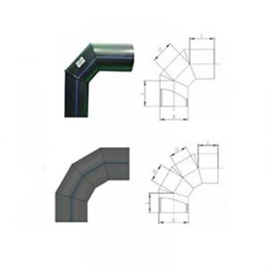 PE Injection Elbow Welded Elbow Pipe Fittings for Pipeline System