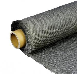 High Temperature Graphite Coated Fiberglass Fabric Heat Resistant Glass Cloth
