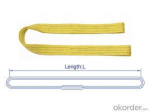 Heavy Endless Type Lifting Textile Lift Slings Length 2m Belt Flat Webbing Sling Color Yellow