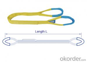 High Working Load Limit 24t Polyester Sling Flat Textile Webbing Sling