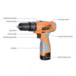 Cordless Impact Drill GS/CE/UL Electric Power Tools Driver Tool Kit
