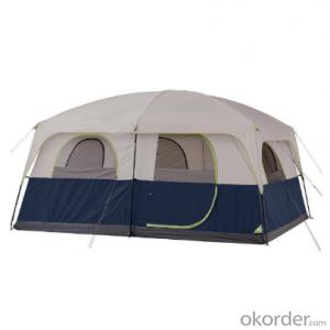 8-10 Persons Large Space, Waterproof Travel Camping Tents with 2 Bedrooms Big Size for Family