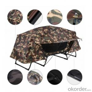 Folding Camping Tent with Sleeping Bed Portable tent above off the ground