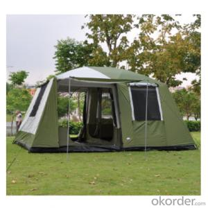 8-12 Persons Large Camping Tent Double Layers two bedrooms Portable Luxury Camping Tents