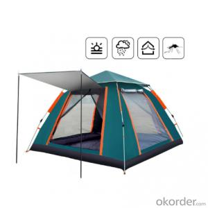 4-6 Person Automatic Pop Up Waterproof Sun UV Protection Camping Square Tent