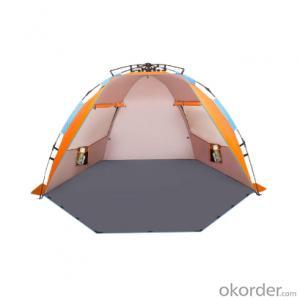 4 Persons Family Sun Shade Waterproof Pop Up Easy Set Up Hexagonal Beach Tent