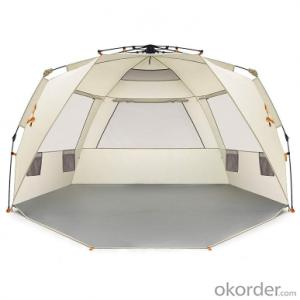 Automatic Pop Up Tent Sun Shade Simple 4 Person Camping Beach Cabana