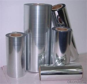 Aluminium Coated Pet Film Metalizing Aluminum Mylar Mpet Film Moisture Proof Film