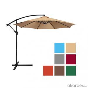 10ft 8 Ribs Cantilever Parasol Offset Patio Garden Umbrellas