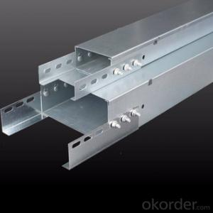 Hot dip galvanized steel trough cable tray can be customized