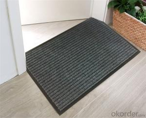 Single-ribbed Jaquard Carpet With PVC Backing Indoor Outdoor Carpets