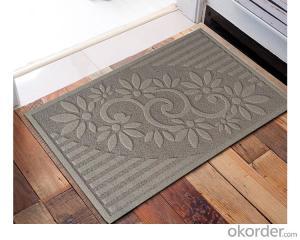 Heat Embossed Door Mat Entrance Anti-slip Waterproof Heat Embossed Door Mat with PVC Backing