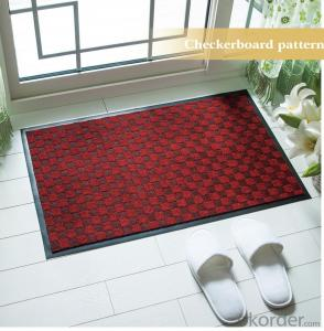 Checkerboard Pattern Jaquard Carpet With PVC Backing 100% Polyester